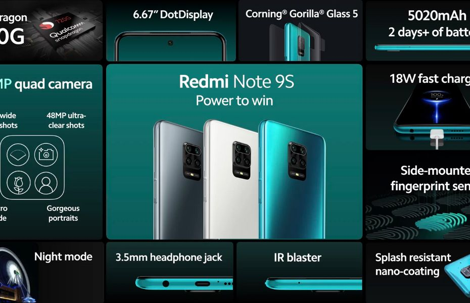 Bakal tersedia secara global, begini spesifikasi lengkap Redmi Note 9S