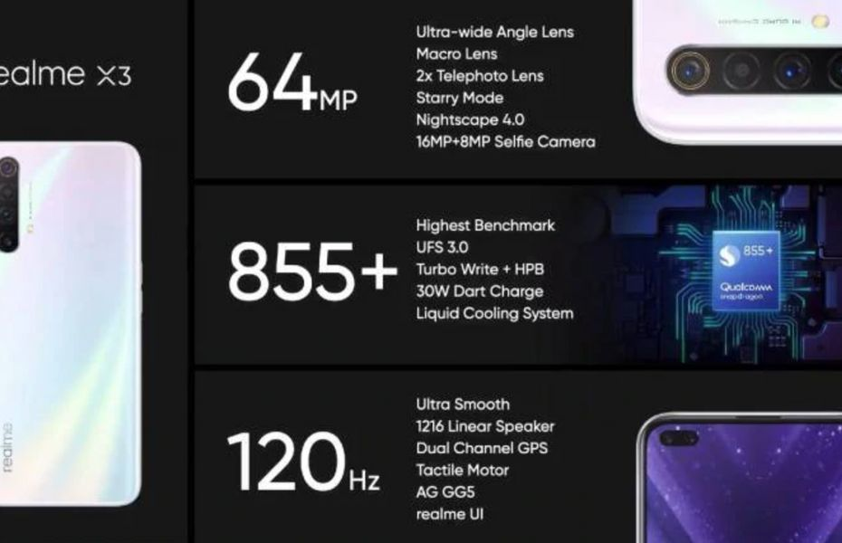 Identik dengan X3 SuperZoom, Realme X3 usung kamera 64MP dan Snapdragon 855 Plus