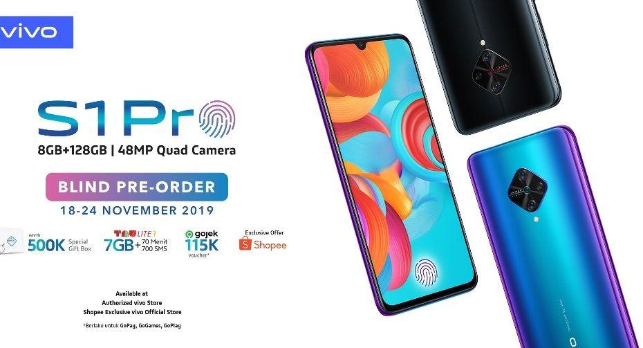Blind Pre-Order Vivo S1 Pro sudah dibuka secara eksklusif di Shopee