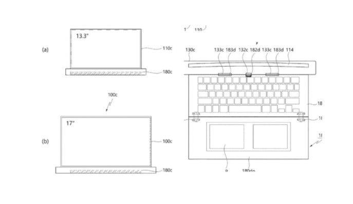 LG patenkan desain laptop dengan layar dan keyboard yang dapat digulung