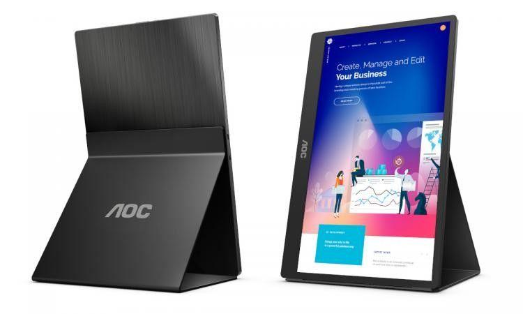 AOC mengumumkan 16T2, layar 15,6 inci portabel dengan pengenalan sentuh 10 titik