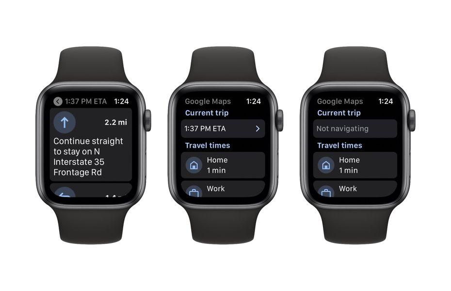 Google Maps hadir kembali di Apple Watch