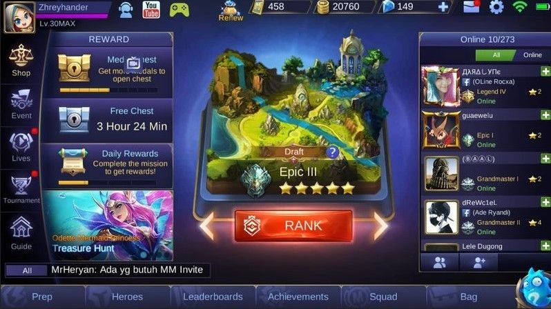 Cara Menang Main Mobile Legend di Ranked, Catat Skuy