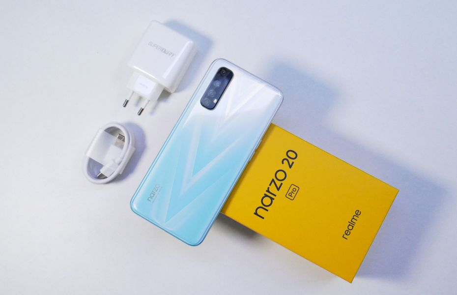 Mengintip isi kotak penjualan Realme Narzo 20 Pro