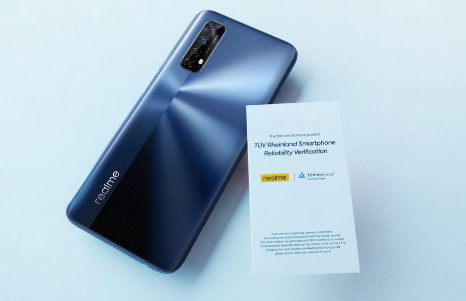 Realme 7, smartphone pertama yang lolos TUV Rheinland Smartphone Reliability Verification