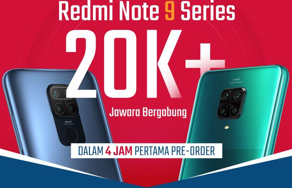 Seri Redmi Note 9: Lebih dari 20.000 Unit Ponsel Jawara Dipesan dalam 4 Jam Pertama