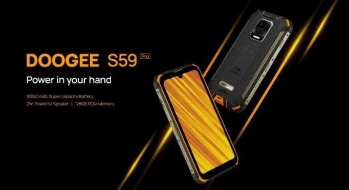 DOOGEE S59 Pro, smartphone tahan banting dengan baterai 10.050 mAh akan debut pada 15 Desember
