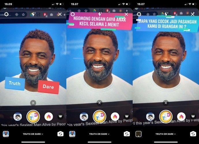 Cara mengaktifkan filter game Truth or Dare di Instagram Stories