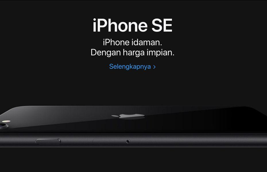 iPhone SE 2020 sudah dipajang di situs Apple Indonesia, berapa harganya?