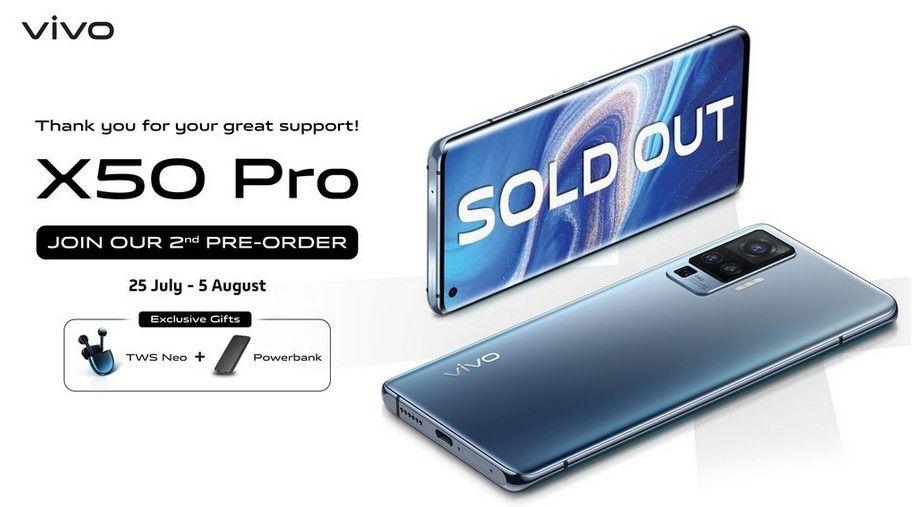 Vivo Buka Pre-Order Lagi untuk Seri X50 Pro, Berhadiah Power Bank!