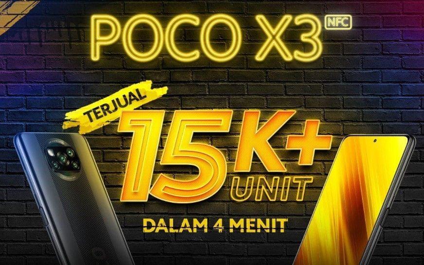Lewat Flash Sale, 15.000 unit POCO X3 NFC ludes dalam 4 menit