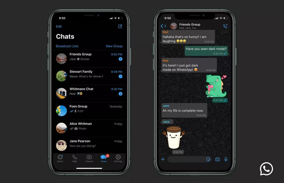 Mode gelap WhatsApp kini sudah tersedia di iOS dan Android