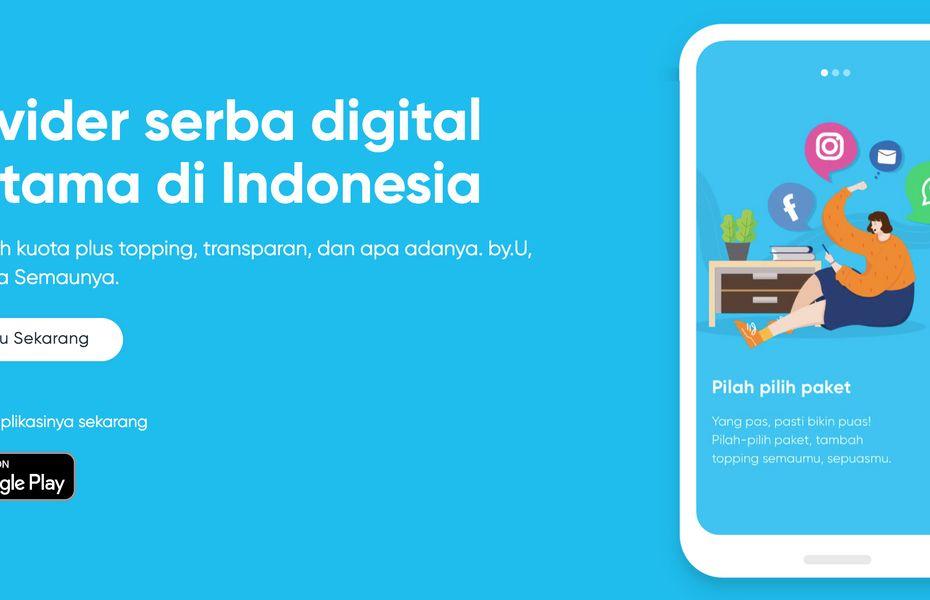 Telkomsel rilis by.U, layanan prabayar digital pertama di Indonesia