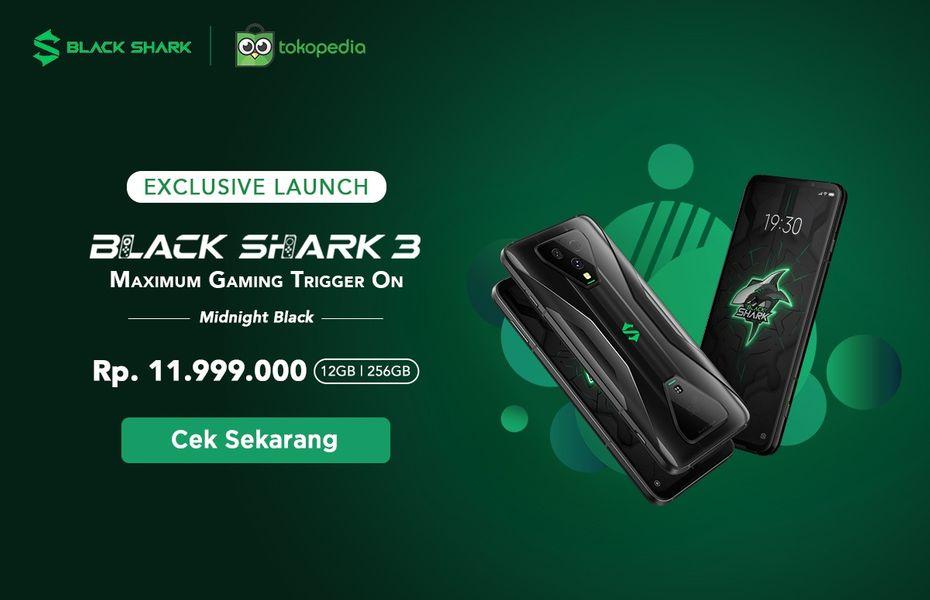 Dijual 12 juta, Black Shark 3 dengan RAM 12GB mendarat di Indonesia