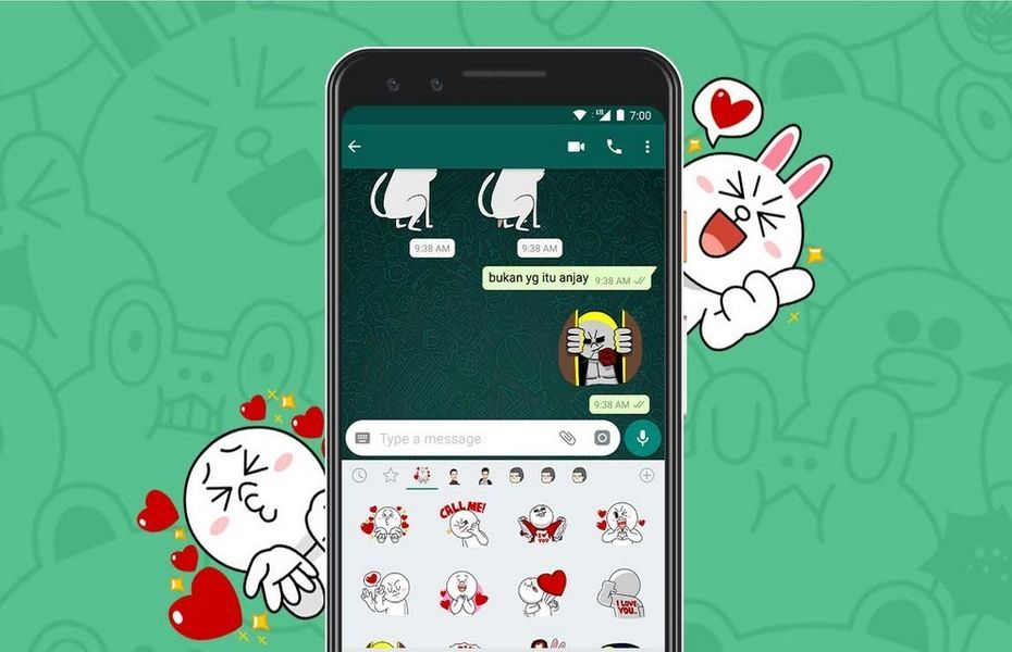 Cara Menggunakan Stiker LINE pada WhatsApp