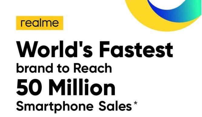 Dalam dua tahun, Realme menjadi merek smartphone dengan pertumbuhan tercepat di dunia