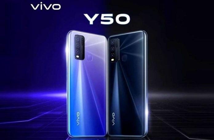 Vivo Y50 dengan Snapdragon 665 diluncurkan di India