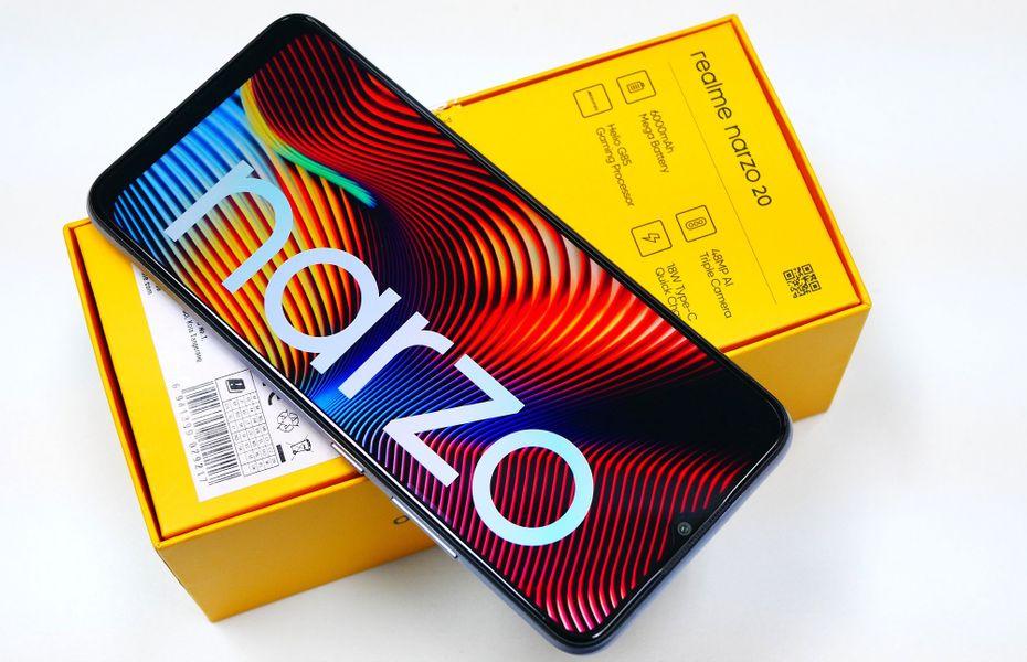 Mengintip isi kotak penjualan Realme Narzo 20