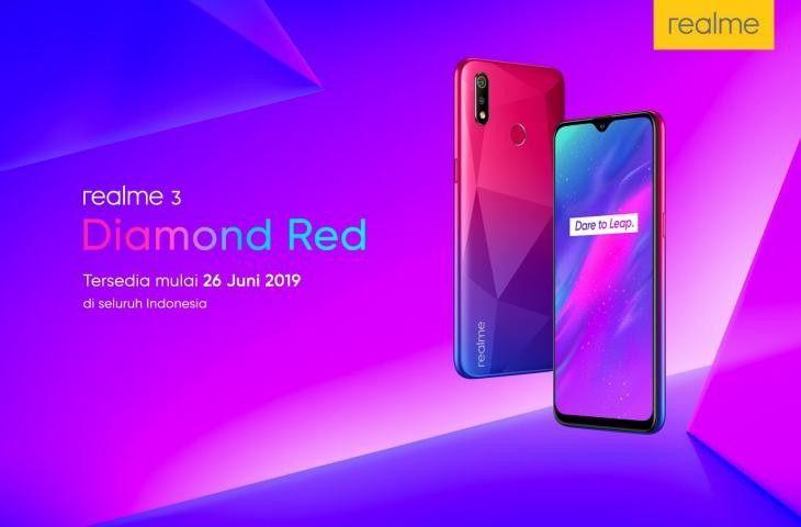 Realme 3 warna Diamond Red segera masuk pasar Indonesia