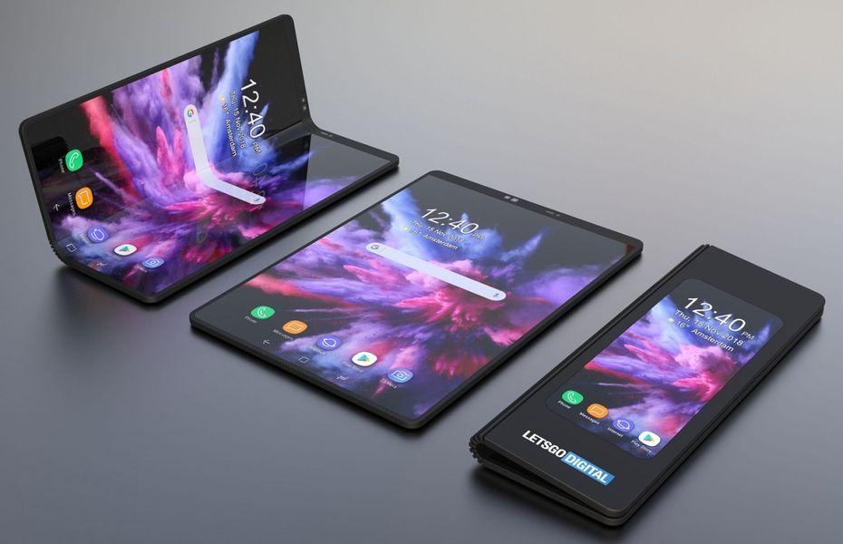 Samsung patenkan tiga desain smartphone lipat