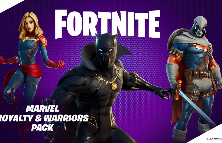 Fortnite Hadirkan Marvel Royalty and Warriors Pack Berisi 3 Item dan Skin Anyar, Keren Banget!