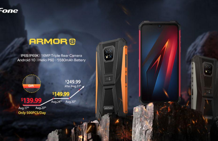Ulefone Armor 8 dengan desain bodi tangguh dan seharga Rp2 juta resmi diluncurkan
