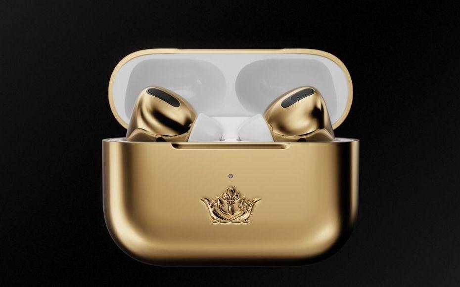 AirPods Pro Gold Edition, perangkat audio Apple dengan harga Rp953 juta.