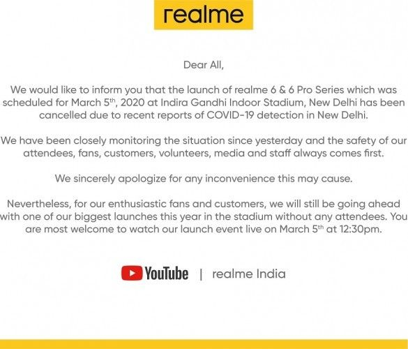 Besok, Realme 6 diluncurkan melalui siaran langsung online