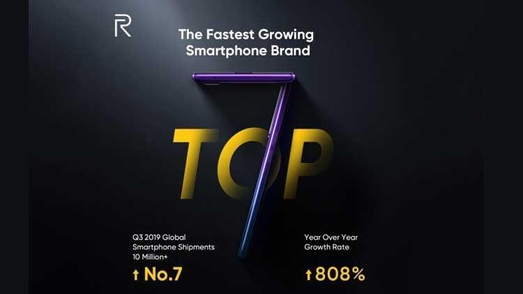 Raih peringkat ke-7, Realme jadi merek smartphone yang paling cepat berkembang