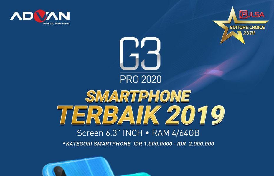 Dibanderol kurang dari Rp2 jutaan, Advan G3 Pro sabet gelar smartphone terbaik 2019.